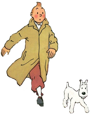 Tintin e seu cachorro Milu (Milou)