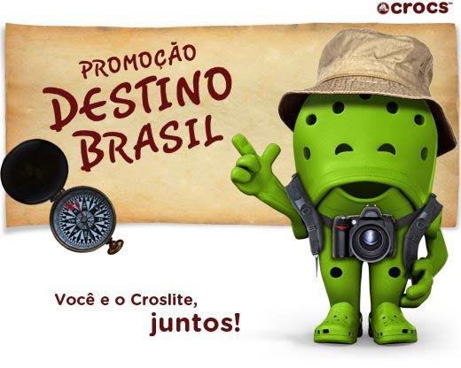 VOCÊ lembra que falei sobre a promoção Crocs Destino Brasil , que